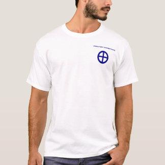 Fundo cristão do branco do t-shirt das conexões camiseta