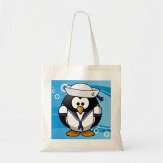 Fundo da água do pinguim do marinheiro sacola tote budget