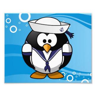 Fundo da água do pinguim do marinheiro impressão de foto