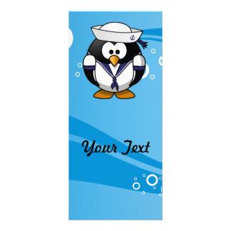 Fundo da água do pinguim do marinheiro 10.16 x 22.86cm panfleto