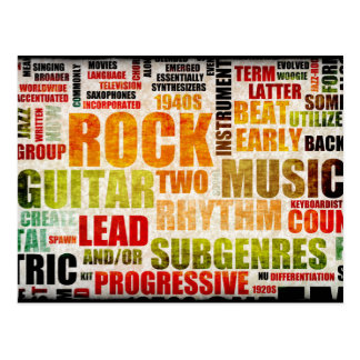 Fundo da arte do poster da música do rock and roll cartão postal