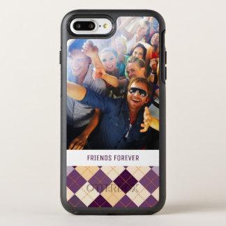 Fundo da camisola da foto & do texto capa para iPhone 7 plus OtterBox symmetry