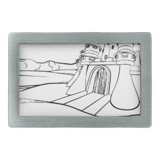 Fundo da cena do castelo dos desenhos animados