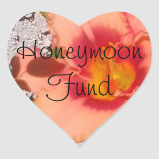 Fundo da lua de mel da flor do pêssego adesivo coração