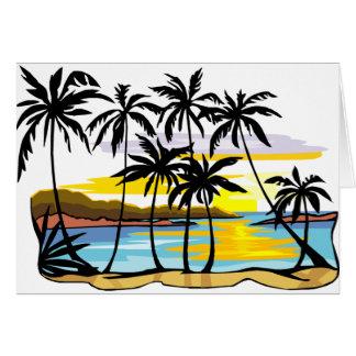 Fundo da palmeira cartões