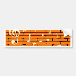 Fundo da parede da música adesivo para carro
