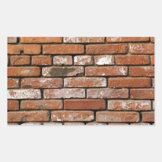 Fundo da parede de tijolo adesivo retangular