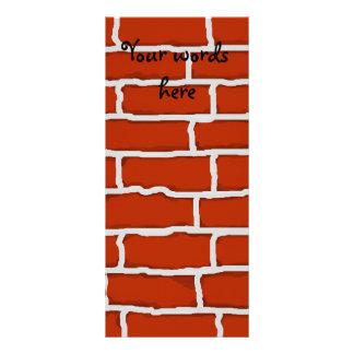 Fundo da parede de tijolo de Brown 10.16 X 22.86cm Panfleto