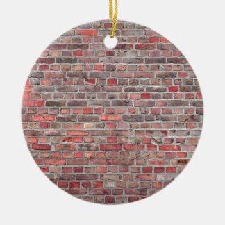 fundo da parede de tijolo - pedra vermelha do ornamento de cerâmica