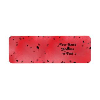 Fundo da textura da melancia etiqueta endereço de retorno