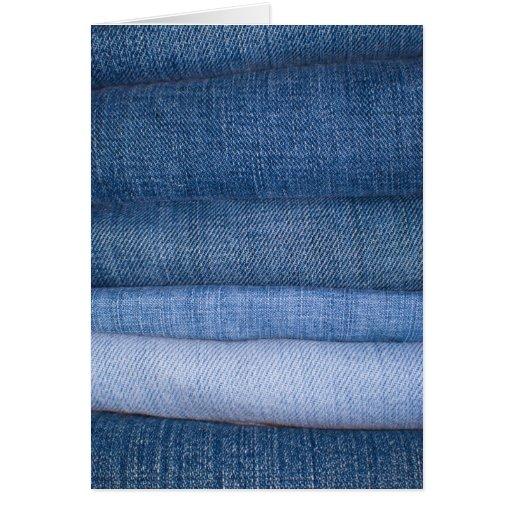 Fundo da textura de jeans cartões