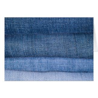 Fundo da textura de jeans cartão comemorativo