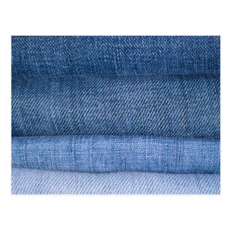 Fundo da textura de jeans cartão postal