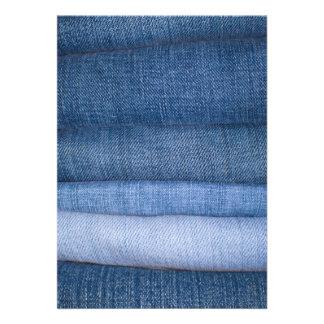 Fundo da textura de jeans convite personalizados