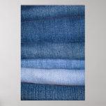 Fundo da textura de jeans pôsteres