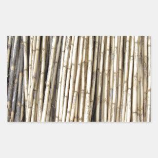 Fundo de bambu adesivo retangular