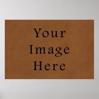 Fundo de couro do papel de pergaminho de Brown do  Poster