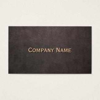 Fundo de couro escuro customizável cartão de visitas