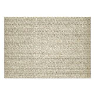 Fundo de linho do algodão cartão de visita grande
