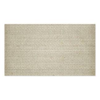 Fundo de linho do algodão cartão de visita