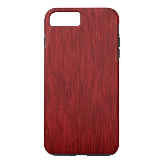 Fundo de madeira áspero da grão - vermelho capa iPhone 7 plus