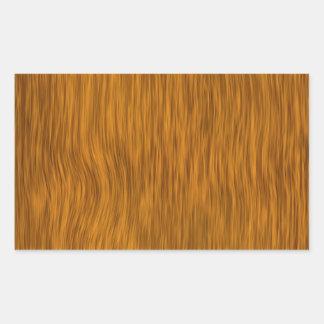 Fundo de madeira áspero dourado da textura adesivo retangular
