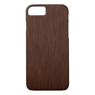 Fundo de madeira áspero escuro da grão capa iPhone 7