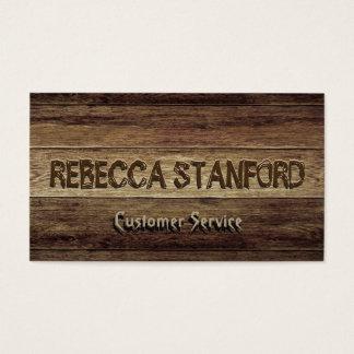 Fundo de madeira cartão de visitas
