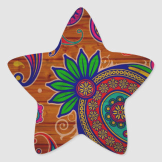 Fundo de madeira colorido floral da textura do adesito estrela