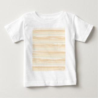 Fundo de madeira pálido camiseta para bebê
