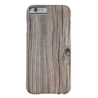 Fundo de madeira resistido - personalizado capa barely there para iPhone 6