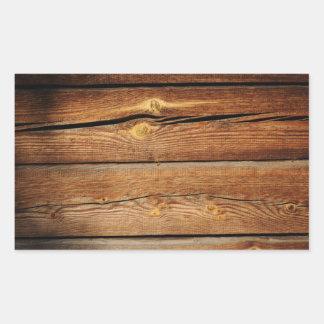 Fundo de madeira velho adesivos em forma retangular