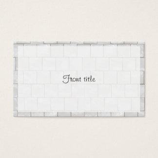 Fundo de mármore decorativo branco do azulejo do cartão de visitas