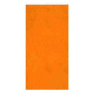 Fundo de papel alaranjado do Dia das Bruxas do Cartão Com Foto