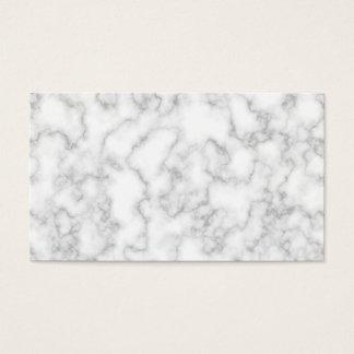 Fundo de pedra marmoreado de mármore do branco cartão de visitas