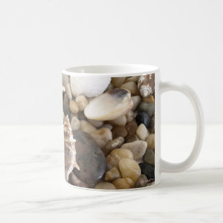 Fundo de Shell do mar Caneca De Café