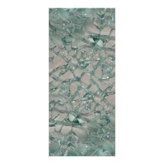 Fundo de vidro quebrado (falso) 10.16 x 22.86cm panfleto