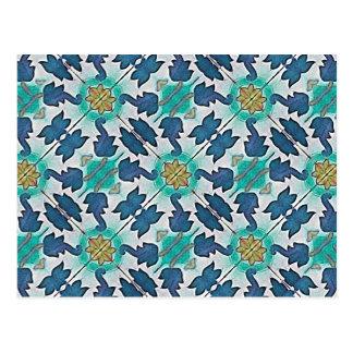 Fundo decorativo do tecido cartão postal