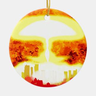 Fundo do calor da bomba atômica ornamento de cerâmica