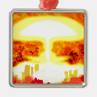Fundo do calor da bomba atômica ornamento de metal