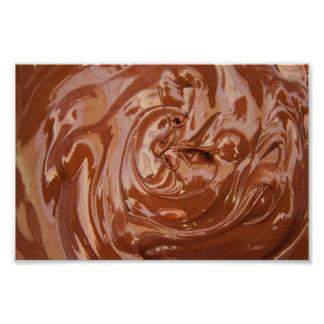 Fundo do chocolate impressão de foto