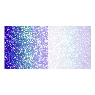 Fundo do gráfico do brilho do cartão com fotos cartão com foto