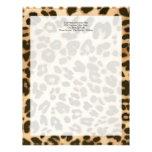 Fundo do impressão do leopardo papéis de carta personalizados