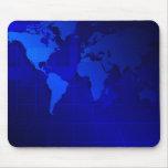 Fundo do mapa do mundo mouse pad