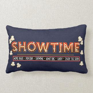 Fundo do marinho do descanso de Showtime do cinema Travesseiro