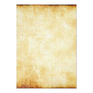 Fundo do papel de pergaminho convite 12.7 x 17.78cm