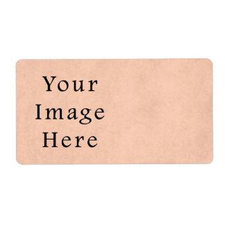 Fundo do papel de pergaminho do rosa do pêssego do etiqueta de frete