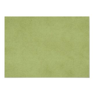 Fundo do pergaminho do papel de verde azeitona do convite 11.30 x 15.87cm