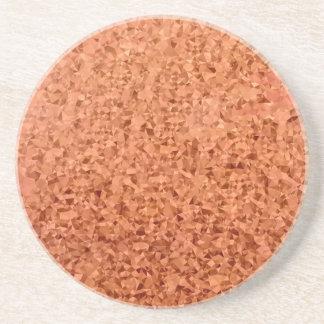 Fundo do polígono do abstrato coral da laranja porta-copos de arenito