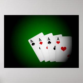 Fundo do póquer pôsteres